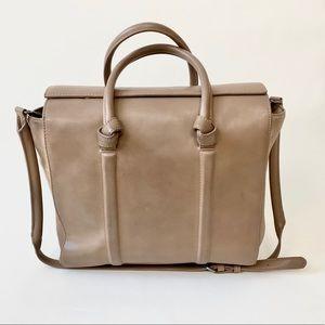 Zara Basic shoulder bag in beige medium size